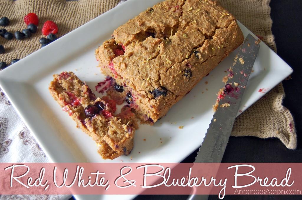 Red, White, and Blueberry Bread Recipe | Amanda's Apron